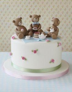 Its A Stare Down Birthday Cake Decorating And Picnics - Bear birthday cake