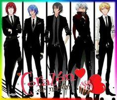 Castiel, Alexy, Armin, Lysandro y Nathaniel