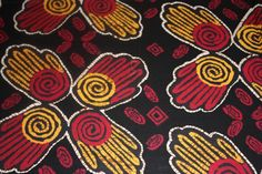 Coupon de tissus africain, wax 1er choix, min. 50 x 55 cm mains
