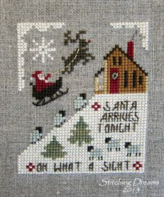 "Homespun Elegance's ""Santa Arrives Tonight"""