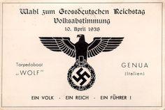 Exponat: Postkarte: Wahl zum Grossdeutschen Reichstag, 1938