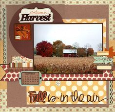 #papercraft #scrapbook #layout Fall is in the Air - Scrapbook.com