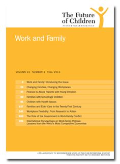 Work and Family, Vol 21 Number 2 Fall 2011 by The Future of Children (Princeton-Brookings): Read the entire journal free of charge online.   #futureofchildren #Work_and_Family