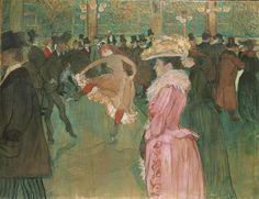Henri de Toulouse-Lautrec,Dance at the Moulin Rouge,1890