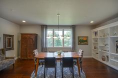 The dining room. Designed and built by Quail Homes of Vancouver Washington.