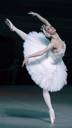 Olga Smirnova in Swan Lake taken at Lincoln Center during The Bolshoi's US Tour- Photo Gene Schiavone
