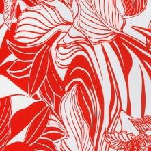 Red Floral Cotton Print
