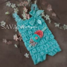 Hey, I found this really awesome Etsy listing at https://www.etsy.com/listing/184249640/baby-lace-outfit-2-pcs-aqua-coral-petti