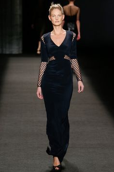 Monique Lhuillier | Fall 2014 Ready-to-Wear Collection | Style.com. Honeycomb mesh!