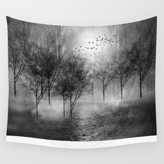 Black and White - Paisaje y color II Wall Tapestry by Viviana Gonzalez