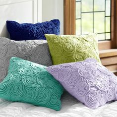These pillows are a great way to break up the Heather pattern and still adds a fun pop of color.