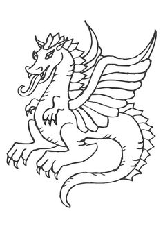 Lonely Little Dragon Kids Printable Coloring Page Free | Avianne ...