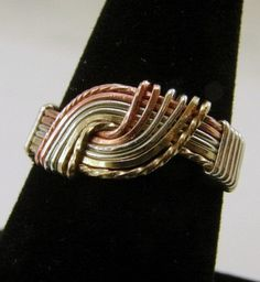 #SecondNatureDesigns on Artfire                     #ring                     #Sterling #Silver, #Copper #Goldfilled #Wirewrapped #Ring #SecondNatureDesigns #Jewelry #ArtFire        Sterling Silver, Copper and Goldfilled Wirewrapped Hug Ring | SecondNatureDesigns - Jewelry on ArtFire                            http://www.seapai.com/product.aspx?PID=1518942