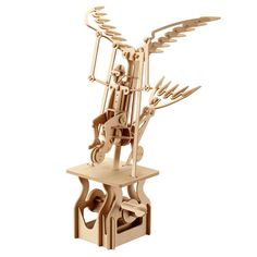 Wooden Puzzle Moving Model Kit DIY Moving Mechanical Wooden Automata Flying Dreamer Craft in a Box Gift Home Decor Modelshop Wooden Dollhouse, Wooden Dolls, Dollhouse Furniture, Electric Music, Kinetic Art, Kinetic Toys, Wooden Puzzles, Home And Deco, Wood Toys
