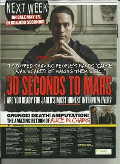Thirty Seconds, 30 Seconds, Alice In Chains, Shannon Leto, Jared Leto, Mars, Interview, Editorial, Magazine