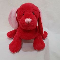 "Cherry Soda Pup Webkinz No Code Ganz Plush Stuffed Animal 7"" Toy #GANZWebkinz Yellow And Brown, Red And Pink, Pet Toys, Kids Toys, Fox Stuffed Animal, Red Dog, White Terrier, Zoo Animals, Big Eyes"