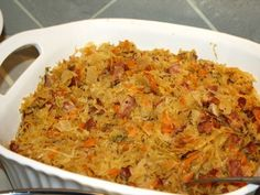 Recipe This is a polish side dish served traditionally with Easter or Christmas dinner.This is a polish side dish served traditionally with Easter or Christmas dinner. Dinner Dishes, Dinner Menu, Side Dishes, Main Dishes, Sauerkraut Recipes, Cabbage Recipes, Easy Christmas Dinner, Christmas Parties, Christmas Treats