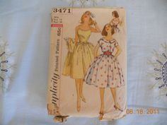 More of my sisters and my collection of old patterns.
