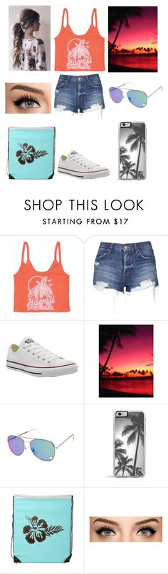 """hawaiian outfit"" by ashlynnthetaco ❤ liked on Polyvore featuring Billabong, Topshop, Converse, Zero Gravity, women's clothing, women's fashion, women, female, woman and misses"