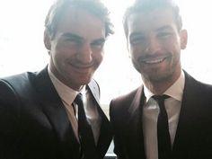 Roger Federer & Grigor Dimitrov #IndianWells2015