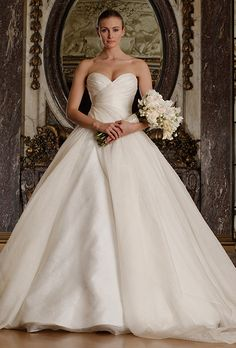 Brides: Romona Keveza Luxe Bridal Collection Wedding Dresses - Spring 2016 - Bridal Runway Shows - Brides.com
