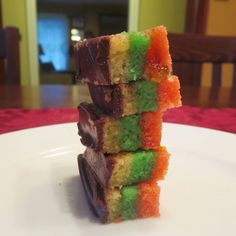 Rainbow cookie recipe - perfect for the holidays