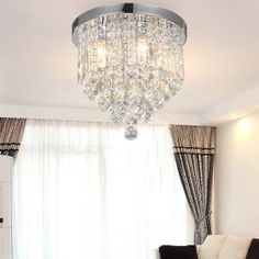 NEW Free Shipping High Quality Luxuriant Flush Mount with Crystal Lampshade $193.00