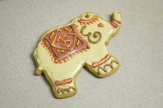 Elegant Chai Elephant Cookies by TheCookieCrave on Etsy, $36.00