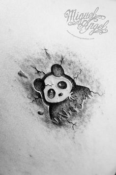 Panda tattoo by Miguel Angel tattoo, via Flickr