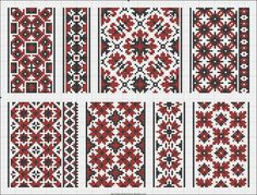 Patterns from a 1930 Ukrainian booklet.  Part 2