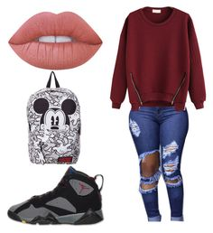 Untitled #16 by jerriyah-alanasia on Polyvore featuring polyvore, mode, style, Lime Crime, Retrò, fashion and clothing