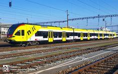 In focus: SBB 521 017 'Fachhochschule Nordwestschweiz' Swiss Railways, Flirt, Train Travel, Locomotive, Transportation, Sailing, Aviation, The Unit, Trains