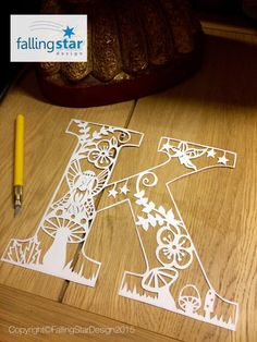 Fairy Letter Papercutting Template K