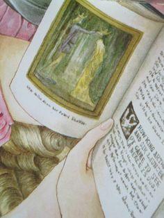 内田善美画集「白雪姫幻想」の、薔薇の午後の次のページの見開きイラストで、少年が手にしてる本がアーサー王みたいなんだけど挿絵は元ネタがあるのかしら?あるのならば是非知りたいのだわ^^