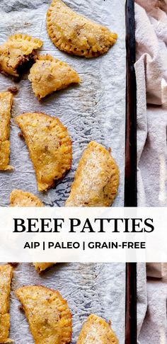 These paleo and AIP beef patties are made with plantains and green bananas, and stuffed with a seasoned beef filling made with olives, onions, garlic and fresh herbs. They're the perfect combination of sweet and savoury, and completely grain-free #aip #aiprecipes #paleo #paleorecipes #grainfree #beefpatties #caribbean #autoimmunedisease #aippaleo #autoimmunepaleo #plantain Beef Patty, Green Banana, Autoimmune Paleo, Fresh Herbs, Grain Free, Paleo Recipes, Pork, Appetizers, Lunch
