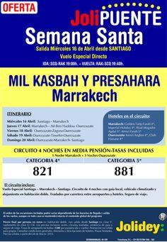 Jolipuente Semana Santa Rak-Mil Kasbah y Presahara desde 821 €. Salida 16 Abril desde Santiago ultimo minuto - http://zocotours.com/jolipuente-semana-santa-rak-mil-kasbah-y-presahara-desde-821-e-salida-16-abril-desde-santiago-ultimo-minuto/