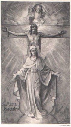 God put Jesus and Mary stomach. Mary gave birth to Jesus. Catholic Prayers, Catholic Art, Religious Art, Roman Catholic, Religious Pictures, Jesus Pictures, Angel Pictures, Blessed Mother Mary, Blessed Virgin Mary