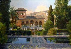PINTURA PÉTER BOJTHE Granada, Mesoamerican, The Spectator, Andalusia, House 2, Taj Mahal, Greek, Mansions, House Styles