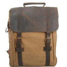 Retro Canvas men women backpack travel bag School bag IPAD Laptop Backpack Bag 1820