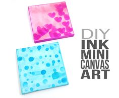 It's Day 4 in the Mini Canvas Art series. And today's project couldn't be easier. Easy Canvas Art, Mini Canvas Art, Diy Canvas, Canvas Ideas, Easy Arts And Crafts, Alcohol Ink Art, Handmade Art, Cool Artwork, Diy Art