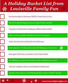 A Holiday Bucket List for Louisville families