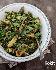 Kokit ja Potit -ruokablogi: Linssi-perunasalaatti lehtikaalilla