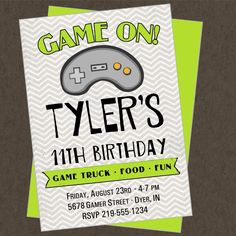 Video game party invitation ideas
