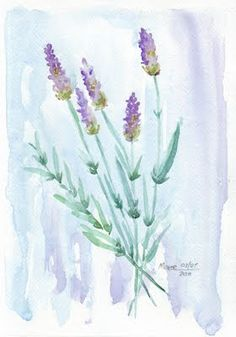 come and buy my lavender, hide it in your trousseau, lady fair. Let its lovely fragrance flow Over you from he. Watercolor Sunflower, Watercolor Flowers, Watercolour Painting, Painting Prints, Watercolors, Nature Journal, Painting Lessons, Learn To Paint, Art World