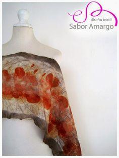 oOºSabor Amargo FieltrosºOo: Eco Print en Seda