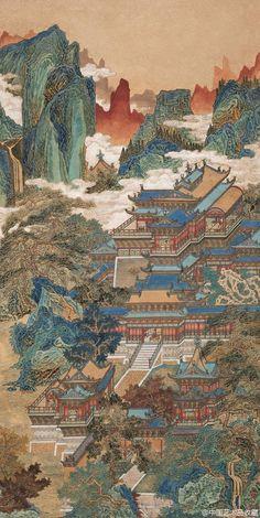 Japanese Art Prints, Japanese Art Modern, Traditional Japanese Art, Japanese Artwork, Chinese Landscape Painting, Korean Painting, Chinese Painting, Japan Illustration, China Art