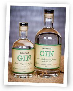 Craft distilled Gin made in Washington at Bellewood Distlling, Tasting Room & Orchard, Lynden, Washington.