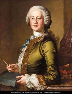 Portrait Of Sir John Cotton, 6th Bt. (D.1752) - Petrus Johannes Van Reyschoot