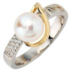 Damen-Ring weiß gelb kombiniert 14 Karat (585) Bicolor Akoya-Zuchtperle 27 Diamant 0.149 ct. 56 (17.8) Dreambase, http://www.amazon.de/dp/B00AB3V4W4/ref=cm_sw_r_pi_dp_ytYPsb0672TXK