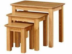 Newark Oak Nest of Tables just the most stunning with durable Oak furniture. Read more at http://solidwoodfurniture.co/product-details-oak-furnitures-3492-newark-oak-nest-of-tables.html